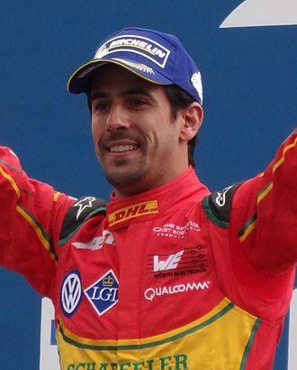 Lucas di Grassi - Di Grassi after winning the 2016 Paris ePrix