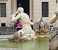 Luigi amici, tritoni e mascheroni della fontana del moro, copia da giacomo della porta, 1874, 10.jpg