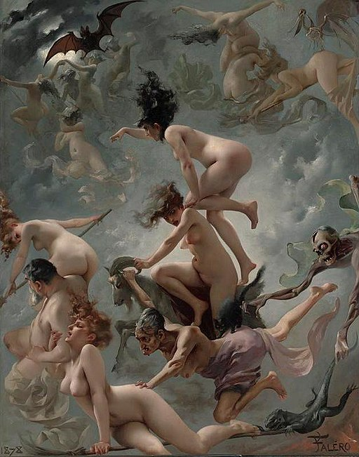 Luis Ricardo Falero - Vision of Faust (1878)