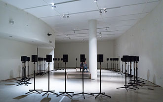 Sound installation - Janet Cardiff's Forty Part Motet (2001) in the ARoS Aarhus Kunstmuseum, Denmark