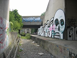 Charleroi Metro - Unfinished Sart-Culpart station on the Gilly/Soleilmont branch