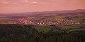 Město z rozhledny Královec při východu slunce, Valašské Klobouky, okres Zlín.jpg