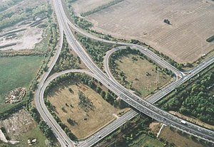 M0 motorway (Hungary) - Aerial photography of the M0 motorway