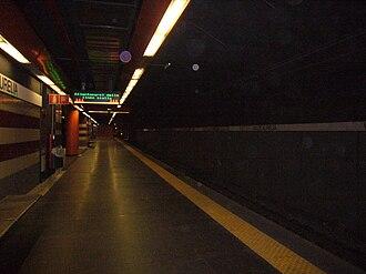 Valle Aurelia (Rome Metro) - Image: M18 MA Valle Aurelia binari 1180041