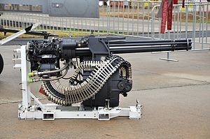 M61 Vulcan nose mounted 6-barreled Gatling cannon (11472816163).jpg