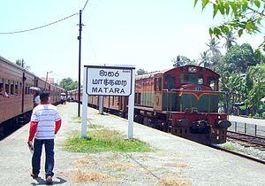 Matara railway station - Trains at Matara station