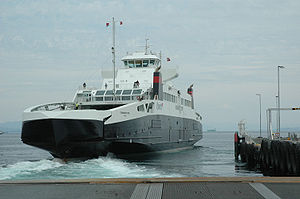 """Transport in Norway - Car ferries are a vital part of the highway infrastructure in the coastal regions. Above is """"MF Stavangerfjord"""" which goes between Arsvågen and Mortavika in Rogaland."""