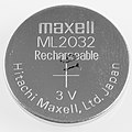 ML2032 Rechargeable button cell battery, Hitachi Maxell-3922.jpg