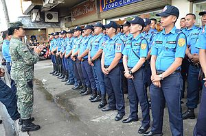 Pope Francis's visit to the Philippines - Officers from Metropolitan Manila Development Authority sent to Leyte