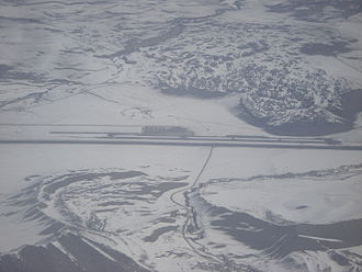 Mammoth Yosemite Airport - Aerial view, March 2010