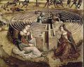 Maître des Cassoni Campana - Thésée et le Minotaure (détail Labyrinthe) - 1500-1525.jpg