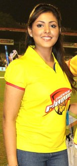 Madhu Shalini spotted at CCL 3