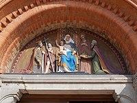 Madonna and Child, Saint Joseph and Saint John, Saint Stephen and Saint Ladislaus, Kossuth Square church, 2017 Nyíregyháza.jpg