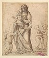 Madonna and Child with the Infant Saint John the Baptist and Two Putti (recto); Madonna and Child with the Infant Saint John the Baptist and a Putto (verso) MET DP136374.jpg