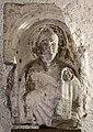 Maestro di sant'anastasia, frammento di edicola con s. zeno e la madonna col bambino, 1300-50 ca., dal palazzo della seta al ponte nuovo, vr 01.jpg
