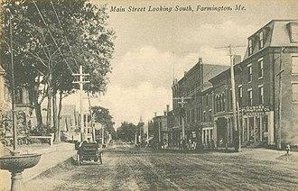 Farmington (CDP), Maine - Main Street