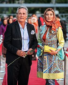 Majid Mozaffari and Niki Mozaffari at 16th Hafez Awards.jpg