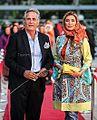 Majid Mozaffari and Niki Mozaffari at 16th Hafez Awards.jpg
