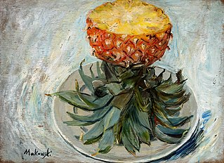 Ananas na talerzu