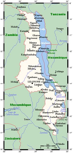 Geography of Malawi - Image: Malawi OMC