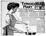 Mary Mallon (a.k.a Typhoid Mary) was an asymptomatic carrier of typhoid fever. Over the course of her career as a cook, she infected 53 people, three of whom died.