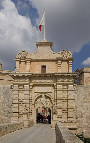 Mdina Gate - View of the Mdina Gate