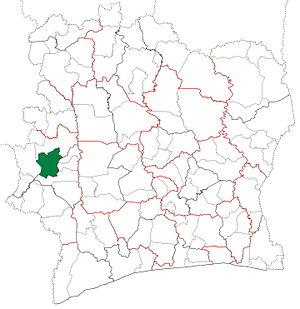 Man Department - Image: Man Department locator map Côte d'Ivoire