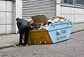 support poubelle sac plastique