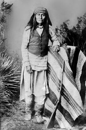 Apache–Mexico Wars - The son of Mangas Coloradas the most prominent Apache leader of the 1850s. Photo taken in 1884.
