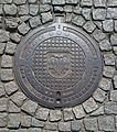 Manhole cover in Łowicz 02.jpg