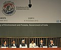 Manmohan Singh at the inauguration of the High Level Segment of the 11th Conference of Parties to the Convention on Biological Diversity, in Hyderabad, Andhra Pradesh. The Governor, Andhra Pradesh, Shri E.S.L. Narasimhan.jpg