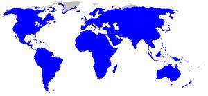 Rosaceae - Image: Map Rosaceae