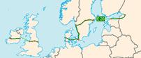 E20 i Danmarks forløb