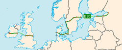 Map E-road E20 overview.png