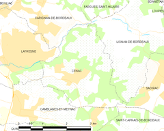 Map commune FR insee code 33118.png