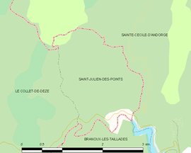 Mapa obce Saint-Julien-des-Points