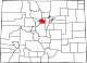 Map of Colorado highlighting Clear Creek County.svg
