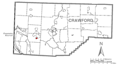 Map of Conneaut Lake, Crawford County, Pennsylvania Highlighted.png