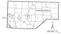 Location of Conneaut Lake in Crawford County