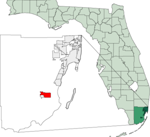 Map of Florida highlighting Homestead.png