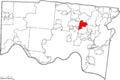 Map of Hamilton County Ohio Highlighting Reading City.png