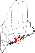 Map of Maine highlighting Knox County.svg