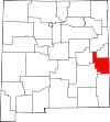 State map highlighting Roosevelt County