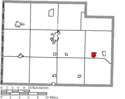 Location of Melrose in Paulding County