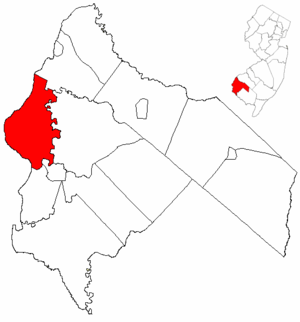 Pennsville Township, New Jersey - Image: Map of Salem County highlighting Pennsville Township