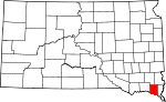 State map highlighting Clay County