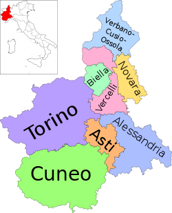 Map of region of Piedmont, Italy, with provinces-it.svg