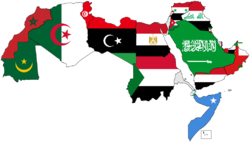 Map of the Arab World with flags.png