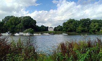 Marble Hill House - The house as seen from across the Thames