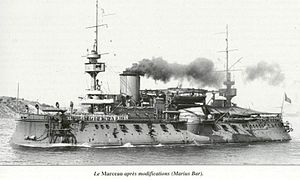 French ironclad Marceau - Image: Marceau Marius Bar 2